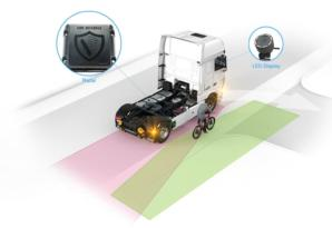 For safer driving in cities, there is DAF City Turn Assist
